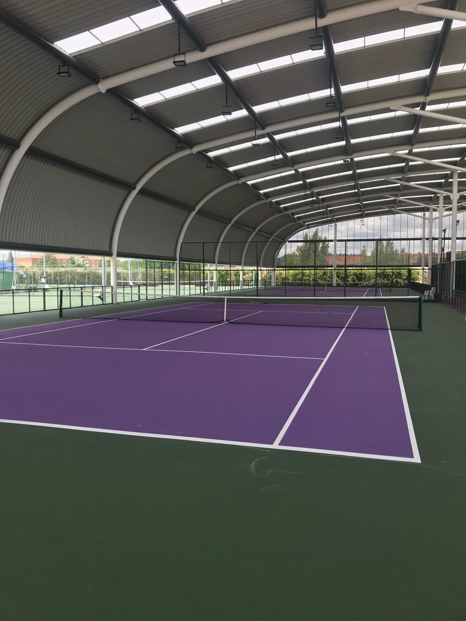 Pista de tenis en Valladolid